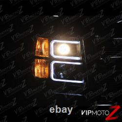 Neon Optic Tube 2007-2013 Chevy Silverado Black Projector Halo Phares Lampe