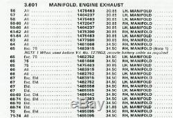 Oem 1965-1967 Cadillac 429 Lh Échappement Côté Conducteur Collecteur 1482752