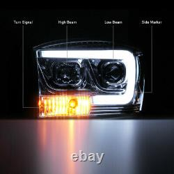 Oled Tube 06-08 Dodge Ram 1500 Chrome Led Light Bar Phares Paire