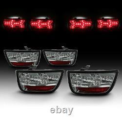 Plug & Play Pour 10-13 Chevy Camaro 4pcs Lambo Style Smoke Full Led Tail Lampe Lumineuse