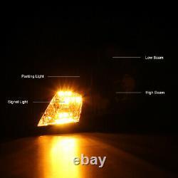 Pour 00-05 Toyota Celica Gt Gts Jdm Cristal Phares Avant Noirs Assemblage Des Lampes