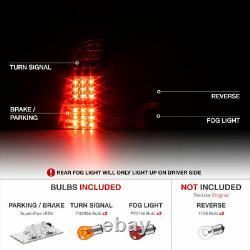 Pour 00-06 Bmw X5 E53 Smoke+chrome Tail Lampe De Frein De Signal Lumineux À Led Paire Lh Rh