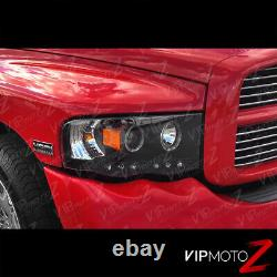 Pour 02-05 Dodge Ram 1500/ 03-05 Ram 2500 3500 Black Halo Projecteur Led Phare
