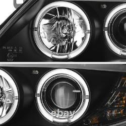 Pour 03-08 Bmw Z4 M-power Black Dual Led Angel Eye Halo Projecteur Phare