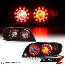 Pour 04-08 Mazda Rx8 Rx-8 Se3p Shinka Nemesis Jdm Black Led Tail Lampe De Frein Léger