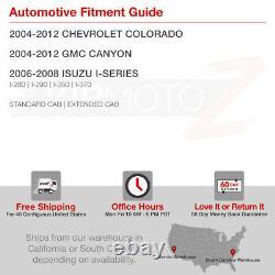 Pour 04-12 Chevy Colorado Gmc Canyon Black Halo Led Projecteur Phare