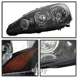 Pour 05 06 Acura Rsx Type S Dc5 Jdm Black Phares Avant Assemblage À Droite