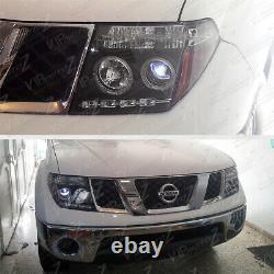 Pour 05-07 Nissan Pathfinder/frontier Black Halo Ring Projecteur Led Drl Phare