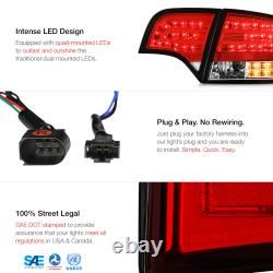 Pour 05-08 Audi A4 B7 Euro Red 4pc Frein Arrière Led Smd Tail Light Assemblage