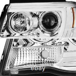 Pour 05-11 Toyota Tacoma Cyclope Optic Neon Led Projecteur De Tube Drl Lampe De Phare
