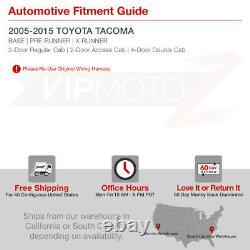 Pour 05-15 Toyota Tacoma Prerunner Xrunner Trd Black Led Neon Tube Tail Light Set