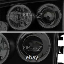 Pour 06-10 Chargeur Dodge Sinister Black Quad Halo Projecteur Led Phares Lampe