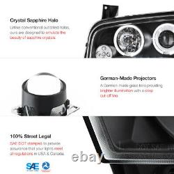Pour 06-10 Dodge Charger Halo Angel Eye Projecteur Led Lampe De Phare Noir