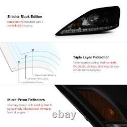 Pour 06-13 Lexus Is 250 350 Sinister Black Lampe De Phare À Led Fumée À Droite