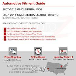 Pour 07-13 Gmc Sierra 1500 2500 3500 Sinister Black Smoke Led Tail Lampadaire