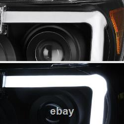 Pour 07-13 Toyota Tundra Cyclop Optic Neon Tube Black Projecteur Phare