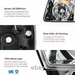 Pour 07-14 Gmc Yukon XL 1500 Denali Chrome Headlight Assembly Lh+rh Side