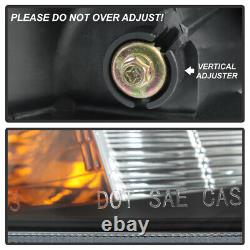 Pour 08-12 Honda Accord Sedan Style D'usine Black Housing Headlight Remplacement