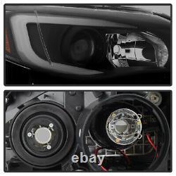 Pour 08-14 Subaru Wrx Halogen Switchback Led Tube Projecteur De Fumée Noir Phare