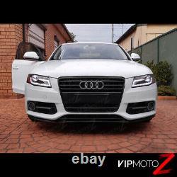Pour 09-12 Audi A4 B8 Infinity Black Projector Headlight Drl Led Light Bar Euro