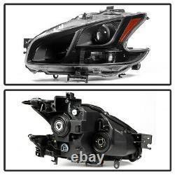 Pour 09-13 Nissan Maxima Noir Cristal Clair Projecteur Phare De Phare Gauche + Droite