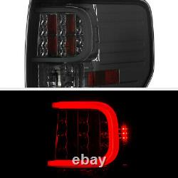 Pour 09-14 Ford F150 Cyclope Optic Tube Smoke Led Tail Lights Arrière Stationnement Set