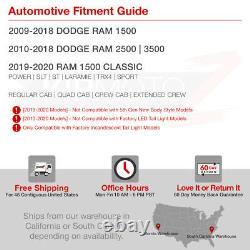 Pour 09-18 Dodge Ram 1500 2500 3500 Camion Black Smoke Lampe De Queue De Frein À Led