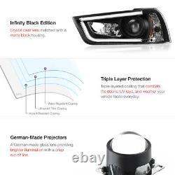 Pour 11-14 Dodge Chargeur Hid Model Halo Angel Yeux Projecteur Led Phare Noir