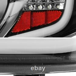 Pour 12-14 Toyota Camry Se Le Hybrid Black Neon Tube Led Tail Light