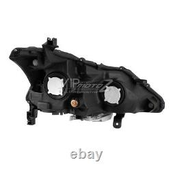 Pour 13-15 Nissan Altima Factory Style Black Projector Headlight Lamp Assemblage