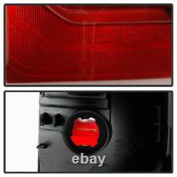 Pour 16-21 Toyota Tacoma Trd Pro Style Black Bezel Feux Arrière Lampe De Frein Lh+rh