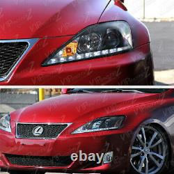Pour 2006-2013 Lexus Is250 Is350 Led Strip Drl Phares Led Assemblage Gauche+droite