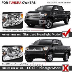 Pour 2014-17 Toyota Tundra Trd Style Fiber Optic Projecteur Noir Phares