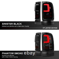 Pour 94-01 Dodge Ram Pickup Darkest Smoke Led Neon Tube Arrière Tail Singal Light