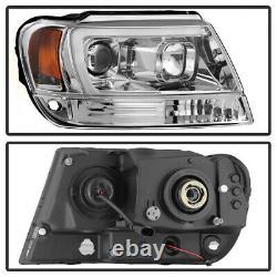 Pour 99-04 Jeep Gand Cherokee Wj U-bar Neon Projecteur Led Drl Phare