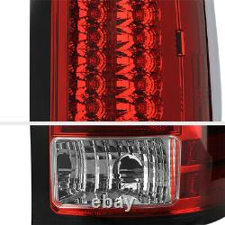 Premium Pour 07-13 Gmc Sierra 1500 2500 3500 Hd Usine Red Led Tail Lampe Lumineuse