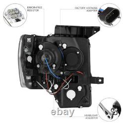 Projecteur Led Ford F150 F-150 Noir Halo Phares 2009-2014 Drl Smd Left+right