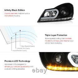 Projecteur Led Strip Black Projecteurs Phares L+r Pour 12-14 W204 M-benz Classe C
