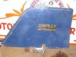 Simplex Automatique, Bleu, Blanc, Rouge, Gauche Et Côté Droit/cadre/moteur Cover Set. #