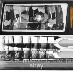 So Cool Pour 93-98 Jeep Grand Cherokee Zj Black Led Phares Du Système Drl L+r