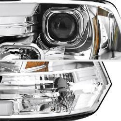 Tube Oled Pour 09-18 Dodge Ram 1500 2500 3500 Lampe Phare De Projecteur Chrome