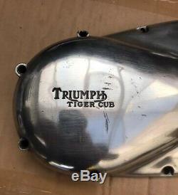 Véritable Triumph Tiger Cub T20 Extérieur Du Couvercle Du Moteur Côté Gauche Main